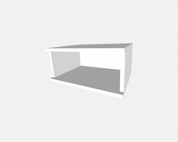 1er Korpus Mel. Weiß 1000x232x519mm