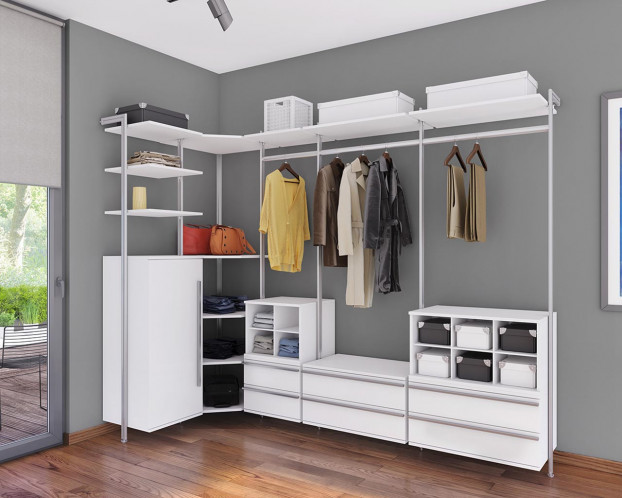 Die Garderobe SARA präsentiert sich im modernen Design und kann individuell zusammengestellt werden