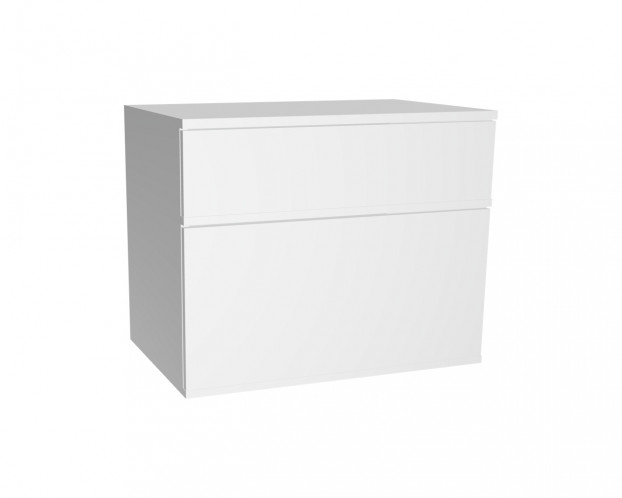 2er Schrankelement mit 1 Schublade + 1 Klappe | Weiß