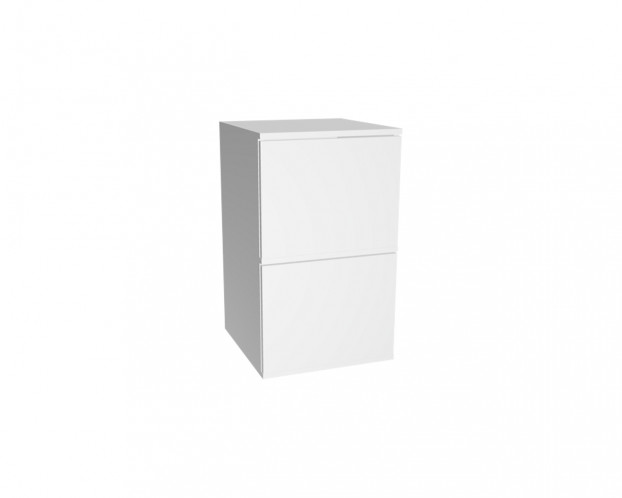 2er Schrankelement mit 2 bzw. 4 Türen | Weiß