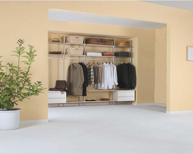 Das offene Schranksystem PRIMERA ist die optimale Ergänzung für Ihr Schlafzimmer