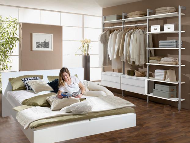 Kleiderschrank PALM inkl. Designerbett mit individuellen Gestaltungsmöglichkeiten