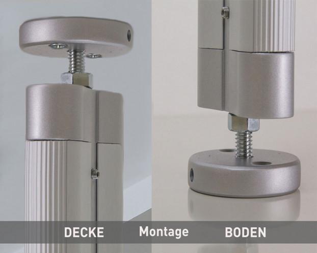 3tlg. Boden-Decken-Profil Länge 296,0 cm LED integrierbar