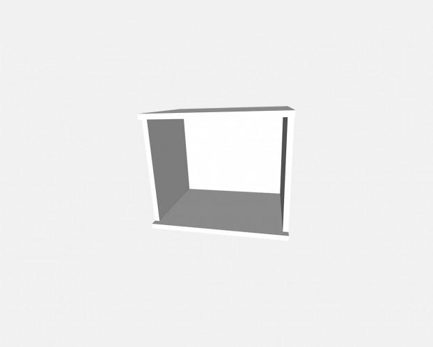 2er Korpus Mel. Weiß 800x426x519mm