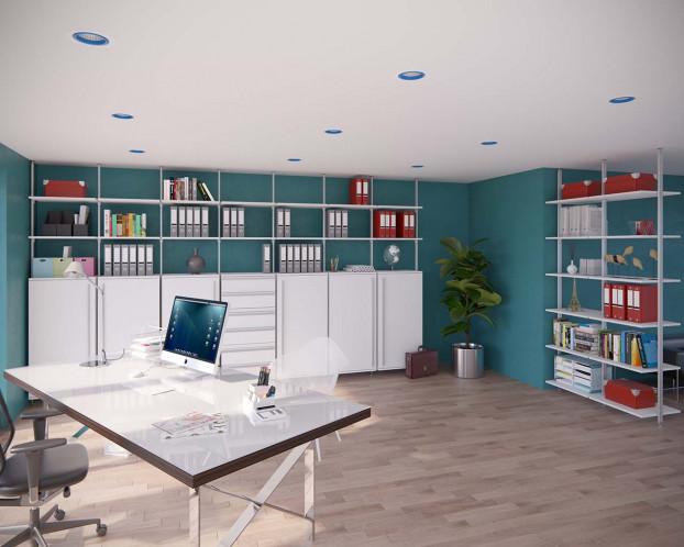 Die Bürowand NOX überzeugt durch Flexibiliät und Individualität