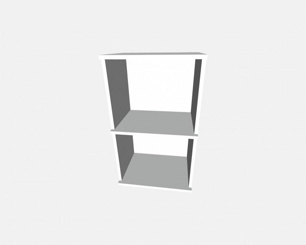 4er Korpus Mel. Weiß 1000x833x519mm