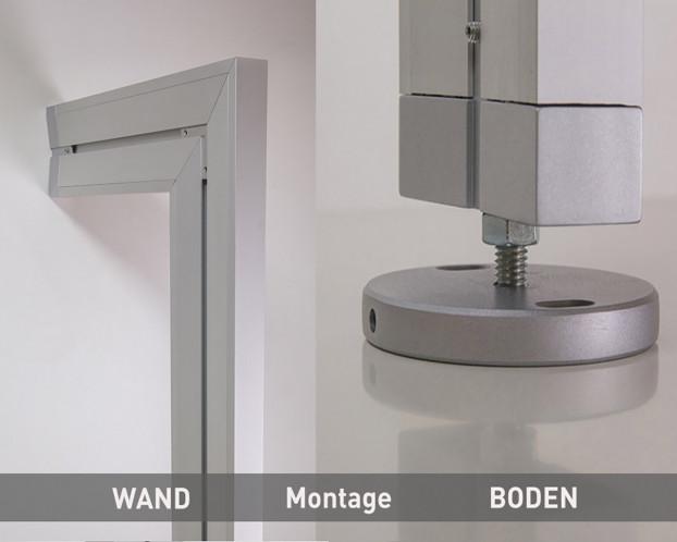 3tlg. Boden-Wand-Profil in 3 Längen für Ankleidezimmer