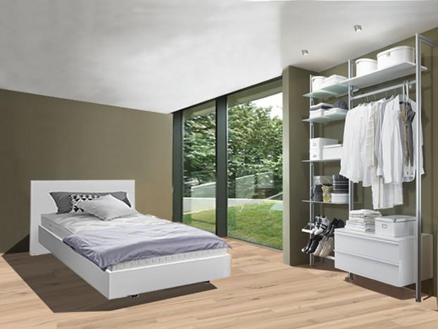 Schlafzimmer: Kleiderschrank FORTIS inkl. Designbett