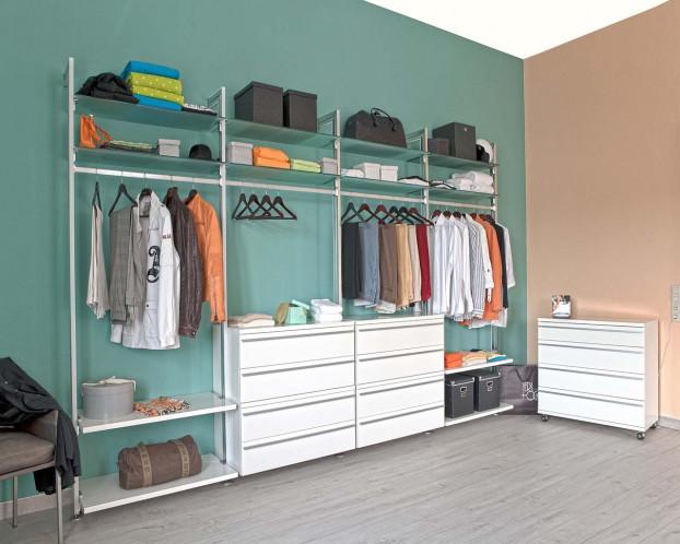 Kleiderschrank System mit Kleiderschrank DOMINO Variante 4