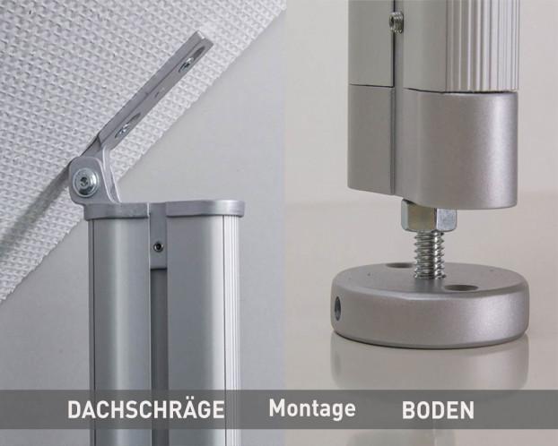 3tlg. Dachschrägen-Profil in 4 Längen LED integrierbar