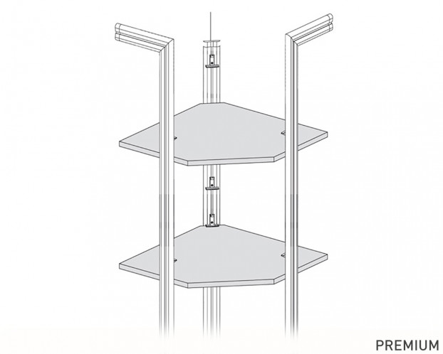 Halbprofil zur Eckbodenstabilisierung | PREMIUM