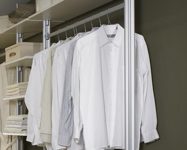 Kleiderstange für begehbaren Kleiderschrank in 3 Breiten