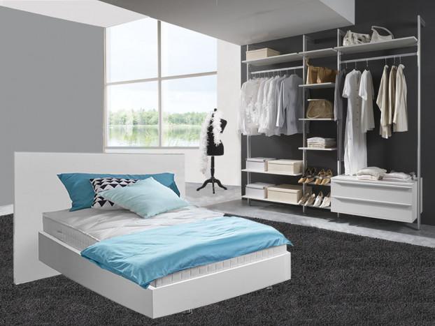 Komplettes Schlafzimmer mit Kleiderschrank SYLT inklusive Designerbett