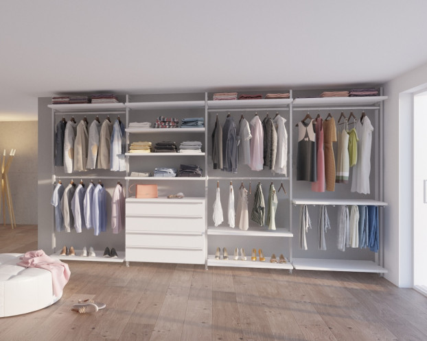 Schranksystem AMICA in 3 Varianten mit viel Platz für Kleidung und Schuhe